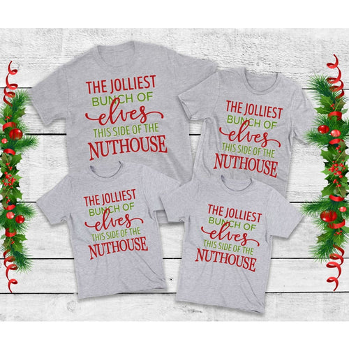 Jolliest Bunch of Elves Shirts Family Christmas Shirts