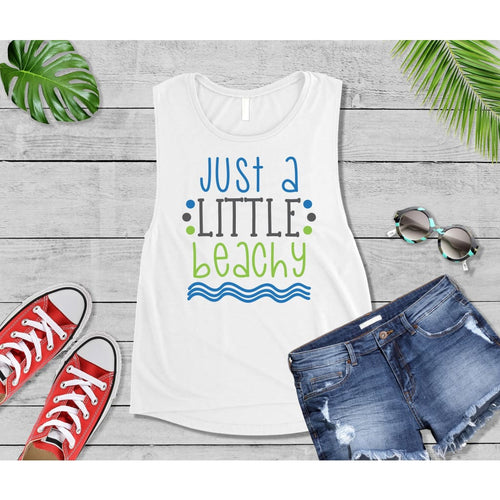 Just a Little Beachy Beach Tank or T-Shirt Beach Wear