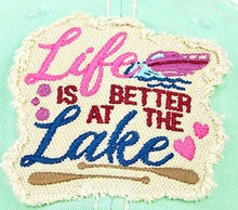 Load image into Gallery viewer, Lake Hat, Distressed Mint Green, Life Is Better At The Lake Cap