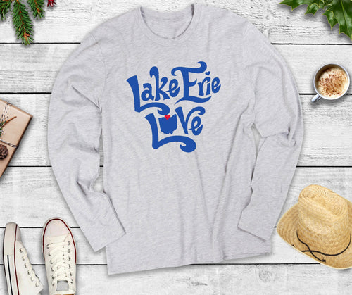 Long Sleeve Lake Erie Love Shirt, Long Sleeve Lake Erie Shirt, Long Sleeve Lake Shirt