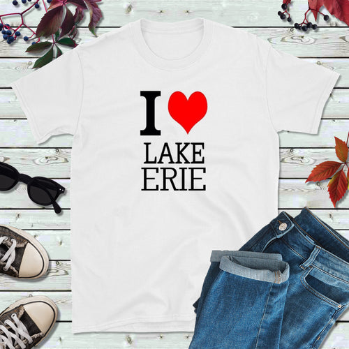 Great Lakes T-Shirt, Vacation Shirt, I Love Lake Erie Shirt