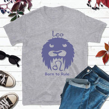 Load image into Gallery viewer, Leo T-Shirt Star Sign Zodiac Gift Born to Rule