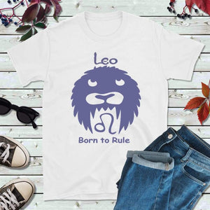 Leo T-Shirt Star Sign Zodiac Gift Born to Rule