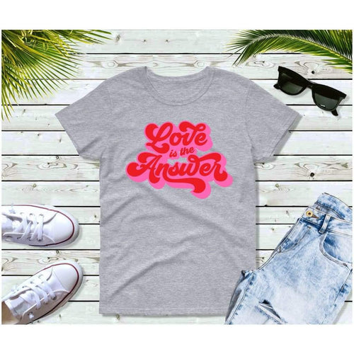 Love is the Answer 70's T-Shirt Vintage Retro Style