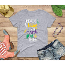 Load image into Gallery viewer, Mardi Gras Party Shirt for Women Beads and Bling It's a