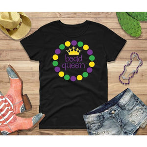 Mardi Gras Shirt Women Party Shirt Bead Queen