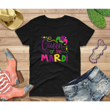 Load image into Gallery viewer, Mardi Gras Shirt Women Party Shirt Queen of the Mardi
