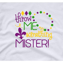 Load image into Gallery viewer, Mardi Gras Shirt Women Party Shirt Throw Me Something Mister