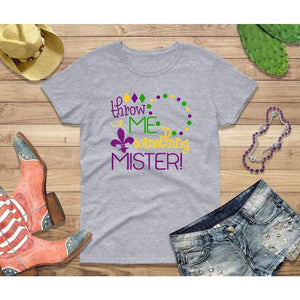 Mardi Gras Shirt Women Party Shirt Throw Me Something Mister