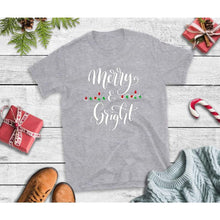 Load image into Gallery viewer, Merry & Bright Shirt Christmas Shirt Holiday T-Shirt