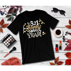 New Year's Eve Shirt 3-2-1 Happy New Year T-Shirt