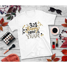 Load image into Gallery viewer, New Year's Eve Shirt 3-2-1 Happy New Year T-Shirt