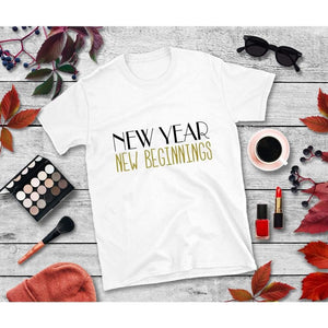 New Year's Eve Shirt New Year New Beginnings T-Shirt