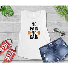 Load image into Gallery viewer, No Pain No Gain T-Shirt New Year's Resolution Shirt Workout