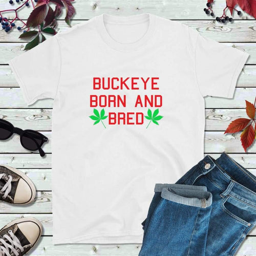 Ohio Football Shirt Ohio T-Shirt Buckeye Born and Bred