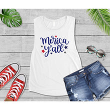 Load image into Gallery viewer, Patriotic Shirt 4th of July 'Merica Y'all Shirt