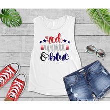 Load image into Gallery viewer, Patriotic Shirt 4th of July Red White & Blue Shirt