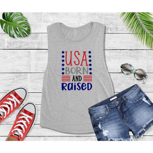 Patriotic Shirt 4th of July USA Born and Raised Shirt