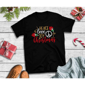 Peace Love Joy Christmas Shirt Christmas T-Shirt Holiday