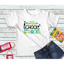 Load image into Gallery viewer, Pre-School Rocks Girls or Boys Shirt Kids Shirt