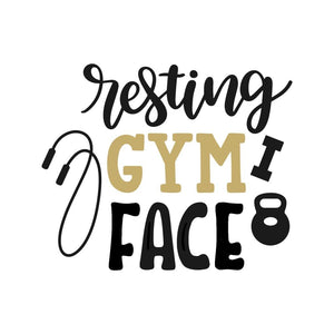 Resting Gym Face T-Shirt New Year's Resolution Shirt Workout
