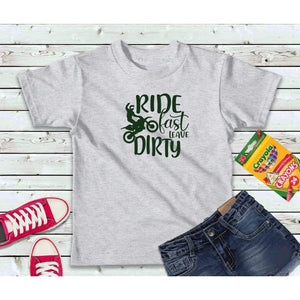 Ride Fast Leave Dirty Shirt Bike T-Shirt Boys Shirt Kids