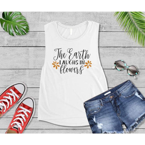 Spring Shirt Vacation T-Shirt The Earth Laughs in Flowers