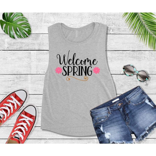 Spring Shirt Vacation T-Shirt Welcome Spring Tank