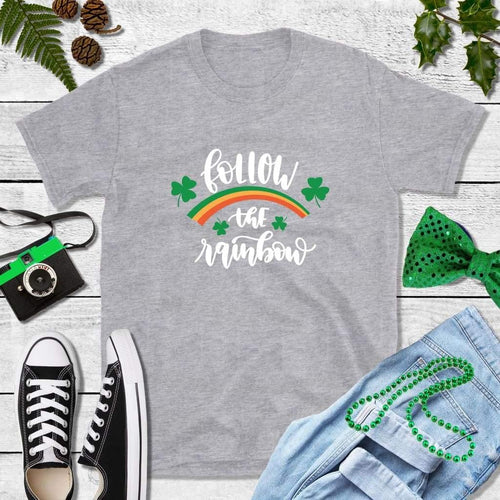 St Patricks Day Shirt Party Shirt Follow the Rainbow