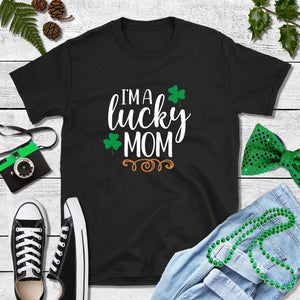 St Patricks Day Shirt Party Shirt I'm a Lucky Mom