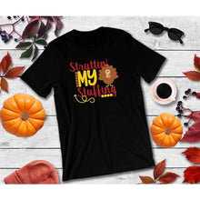 Load image into Gallery viewer, Struttin' My Stuff Thanksgiving Shirt Funny Thanksgiving