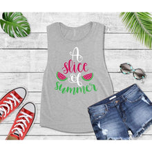 Load image into Gallery viewer, Summer Shirt Vacation T-Shirt A Slice of Summer Tank