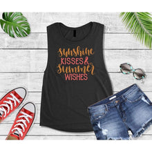 Load image into Gallery viewer, Summer Shirt Vacation T-Shirt Sunshine Kisses Summer Wishes