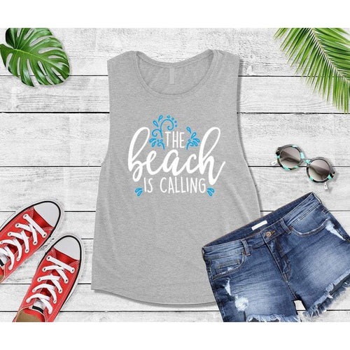 The Beach is Calling Beach Tank or T-Shirt Beach Wear