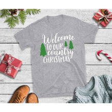 Load image into Gallery viewer, Welcome to Our Country Christmas Shirt Christmas Shirt