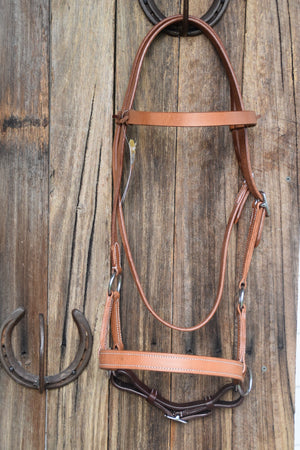 Leather Sidepull Bitless Bridle