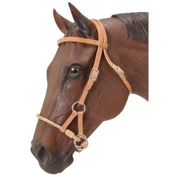 Bitless Sidepull Bridle with Rawhide Noseband