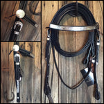 McCoy Collection Western Bridle with Silver & Reins Set