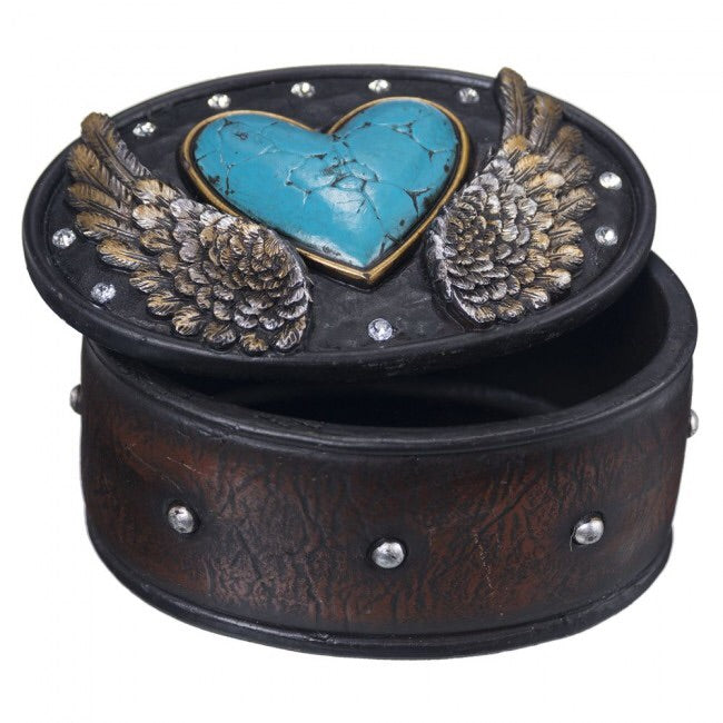 Heart & Wing Western Style Trinket Box