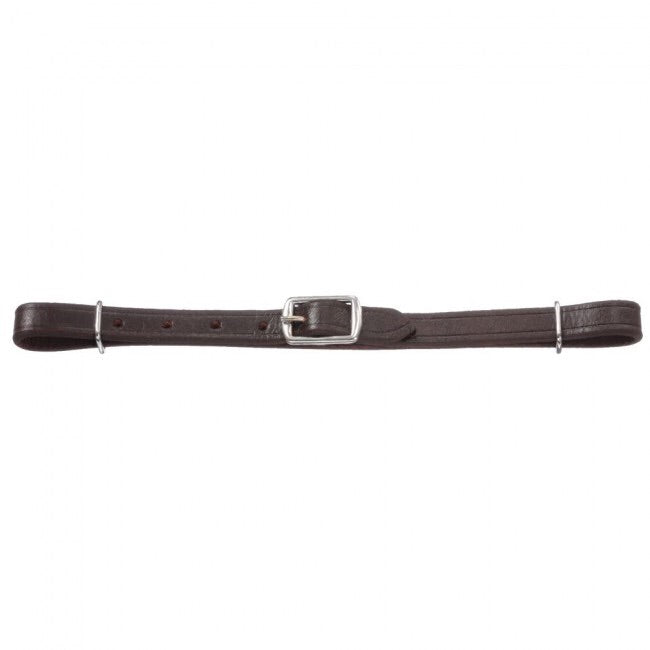 Flat Leather Adjustable Curb Strap
