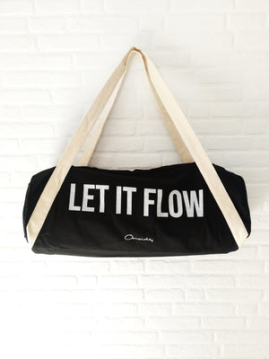 "Bolsa de transporte ""Let it flow""."