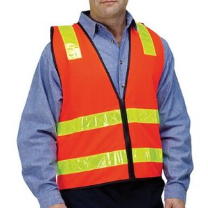 High Vis Safety Vest (Zip Up)