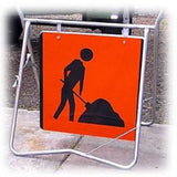 Man Digging Traffic Sign (Medium)