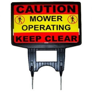 Mower Operating Ground Sign
