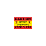 Caution Mower Operating Ground Sign