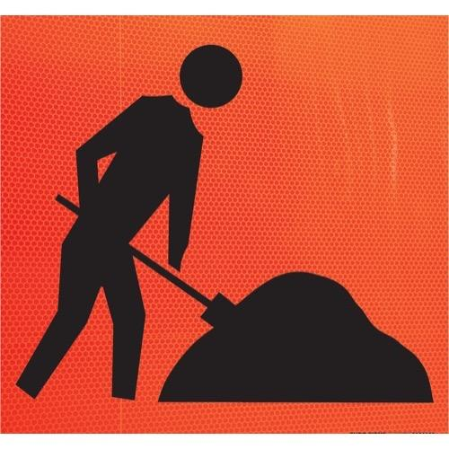 Men at Work Traffic Sign (Large)