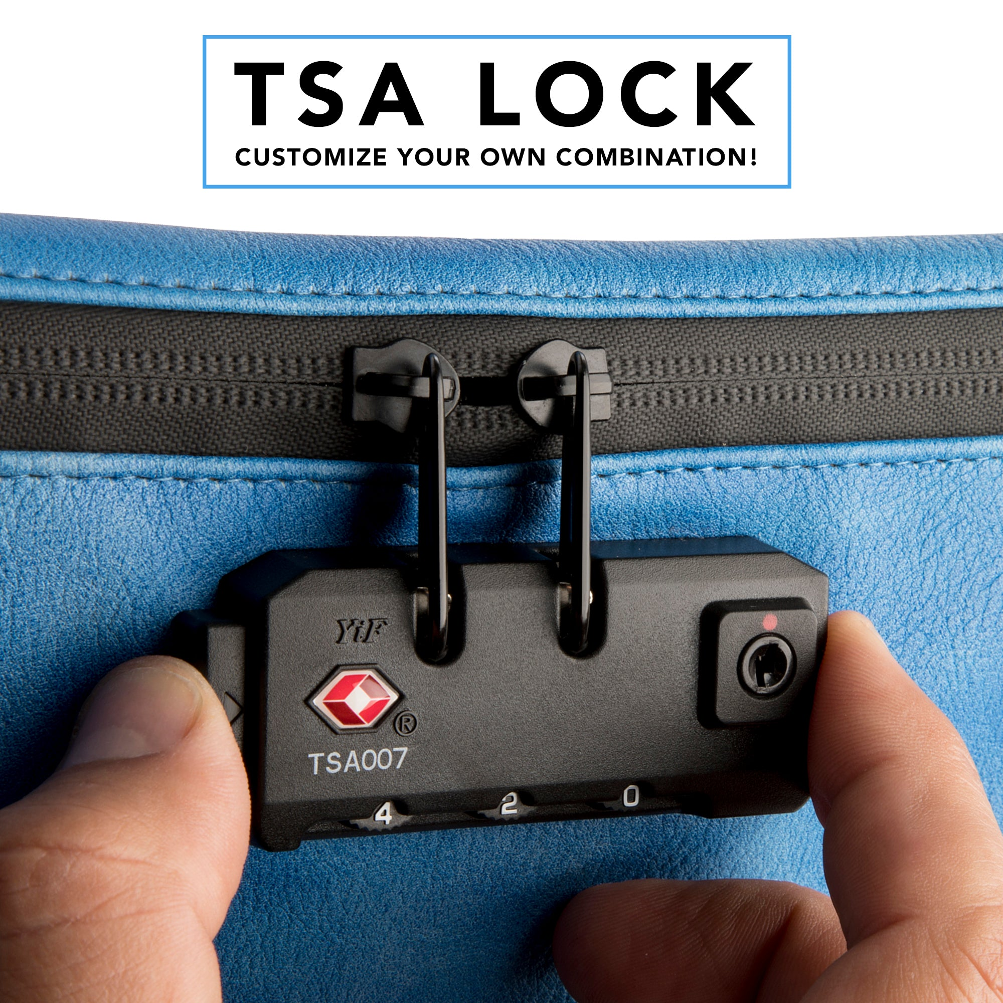 Smell Proof Medical Bag & Travel Pouch with TSA Combination Lock - Electric Blue - Sindicase Supply Co.