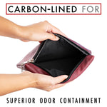 Smell Proof Medical Bag & Travel Pouch - Deep Red - Sindicase Supply Co.