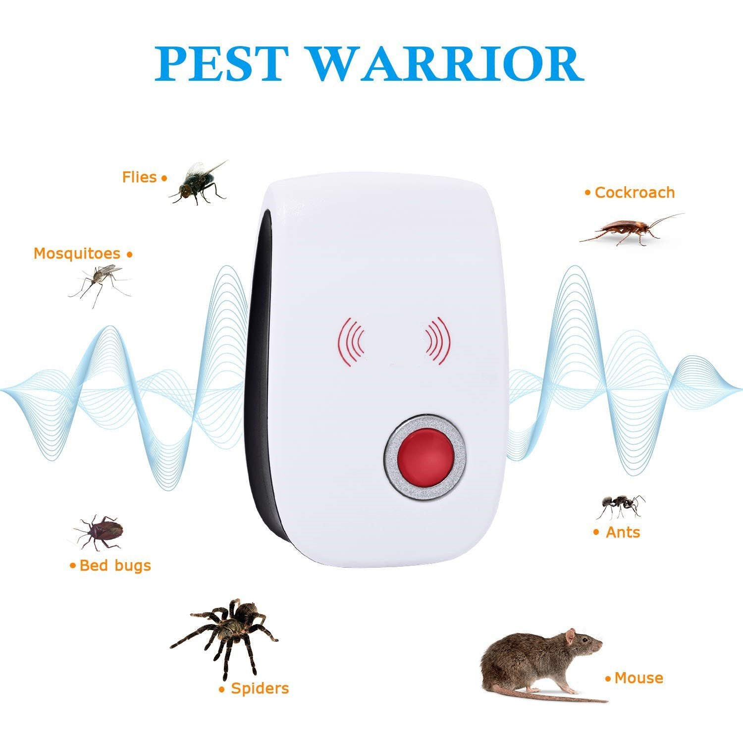 ultrasonic pest control home repeller (Multi-room families recommend buying more than two)