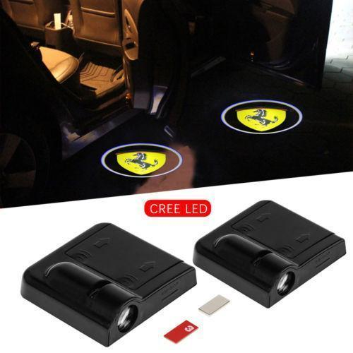 Universal Wireless Car Projection LED Projector Door Shadow Light (4pcs  recommended)